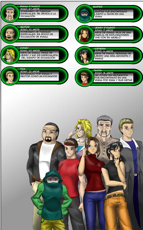 Diggers Cap 1 Personajes