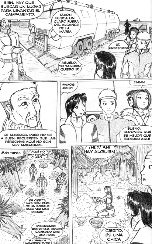 Diggers Cap 3 pg 06, webcomic postapocalíptico, manga, comic, webcomic.